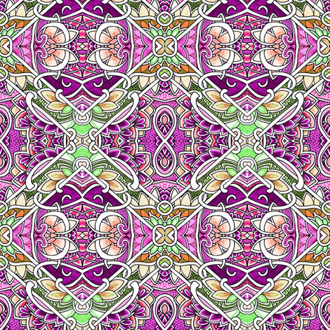 Infinity Lotus Tropical Blocks fabric by edsel2084 on Spoonflower - custom fabric