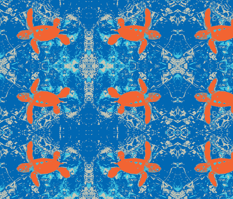 Abstract turtle fabric by saz09 on Spoonflower - custom fabric