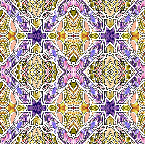 In the Spring a Young Girls Fancy Turns to Chasing Dragons fabric by edsel2084 on Spoonflower - custom fabric