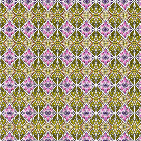 March of the Victorian Orchids fabric by edsel2084 on Spoonflower - custom fabric