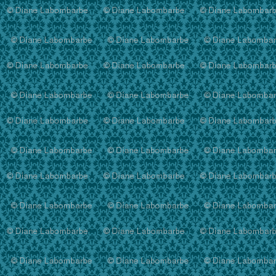 Pretty Blue Damask Design