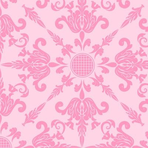 Pretty Pink Damask Design