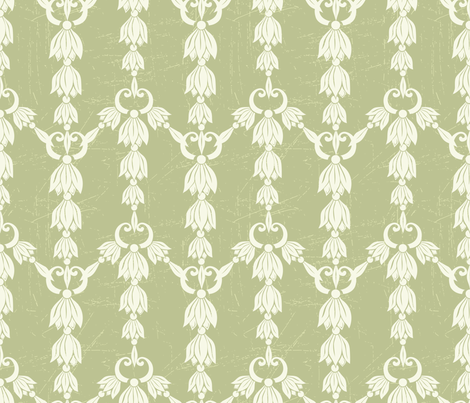 Pretty Green Damask Design fabric by diane555 on Spoonflower - custom fabric