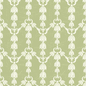 Pretty Green Damask Design