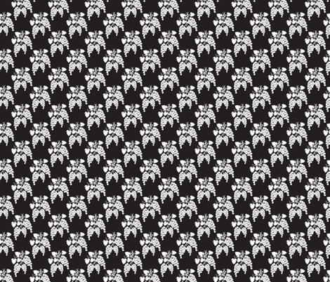 Small Damask Style Black & White  Grapes fabric by diane555 on Spoonflower - custom fabric