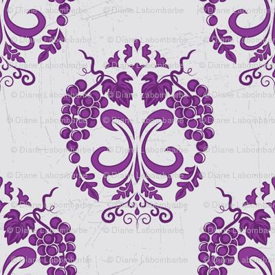 Damask Style Purple Grapes
