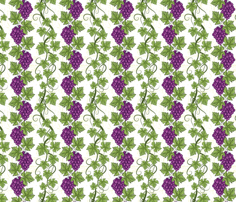 Pretty Purple Grapevines fabric by diane555 on Spoonflower - custom fabric