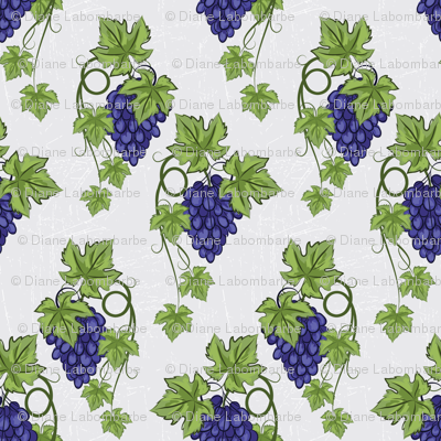 Blue Grapes and Vines