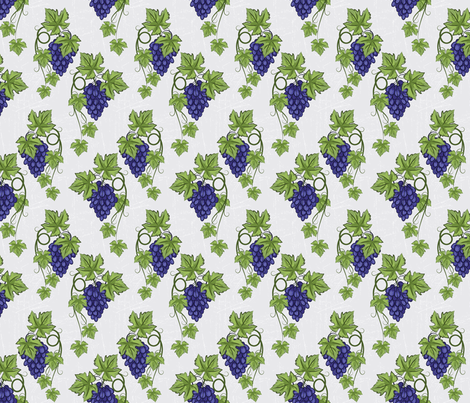 Blue Grapes and Vines fabric by diane555 on Spoonflower - custom fabric