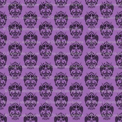 Small Damask Style Purple Grapes