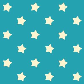 Etoiles fond Bleu Retro kawaii vintage