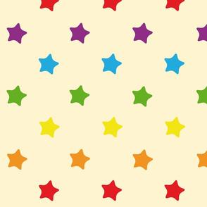 Etoiles fond Rainbow Retro kawaii vintage