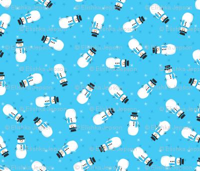 Pop Snowmen (Blue)