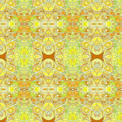 Sunshine Honeycomb  fabric by edsel2084 on Spoonflower - custom fabric