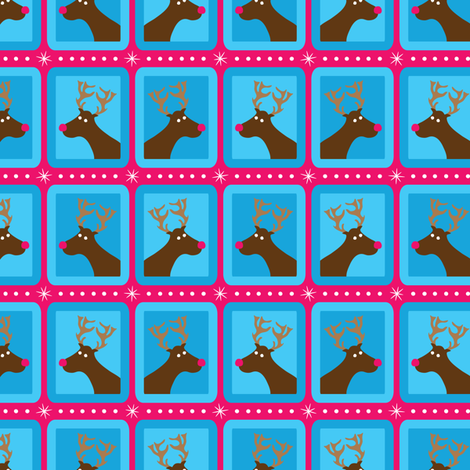 Pop Reindeer fabric by robyriker on Spoonflower - custom fabric