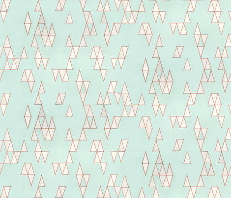 Retro Mint Triangles fabric by *erinred* on Spoonflower - custom fabric