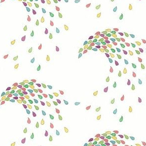 Rainbow Raindrop Swirls