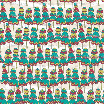 Joyful Pine Trees