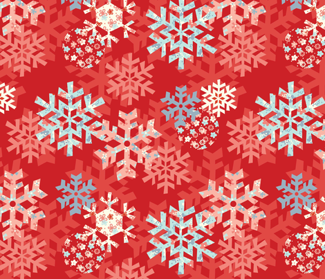 Snowflake Dreams fabric by amel24 on Spoonflower - custom fabric