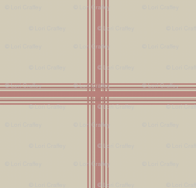 french feed sack plaid red