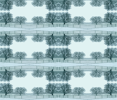 Reflections of a Snowy Day fabric by anniedeb on Spoonflower - custom fabric