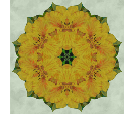 yellow_lily_quilt fabric by peegee on Spoonflower - custom fabric