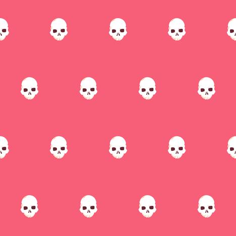 Skull Dot 1 fabric by jadegordon on Spoonflower - custom fabric