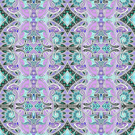 Lavender and Old Grace fabric by edsel2084 on Spoonflower - custom fabric