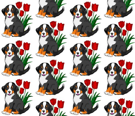 Rbernese_puppy_with_tulips_shop_preview