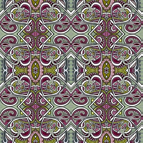 Psychedelic Coloring Book of Hearts and Spades and Paisley fabric by edsel2084 on Spoonflower - custom fabric