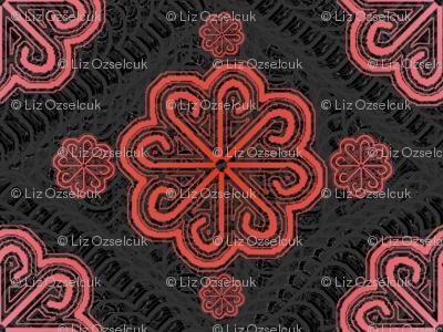 pink pinwheel lace