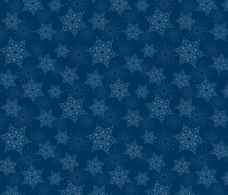 Crystal Gem Snowflakes fabric by hlbyatt on Spoonflower - custom fabric