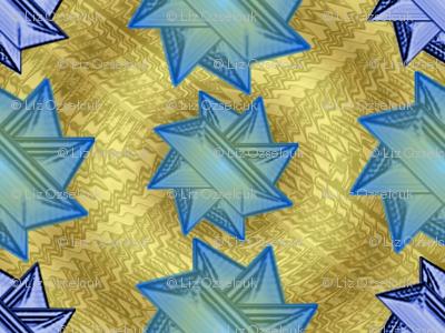 blue stars on gold 1