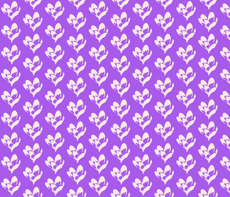 Crocus Sketch2 fabric by koalalady on Spoonflower - custom fabric