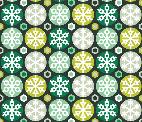 Mod Flakes fabric by ravenous on Spoonflower - custom fabric