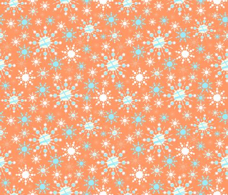 Orange Blizzard fabric by taramcgowan on Spoonflower - custom fabric