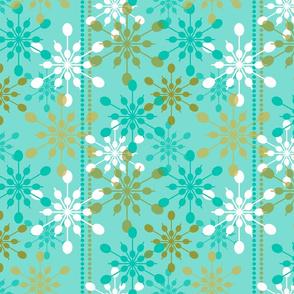 Snowfall ~ on holiday blue