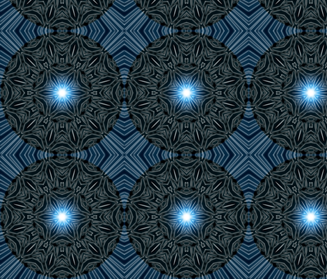 midnight snowflake burst fabric by firemonkey on Spoonflower - custom fabric