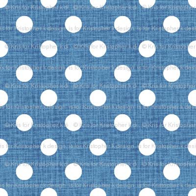 Vintage Cobalt Polka Dots