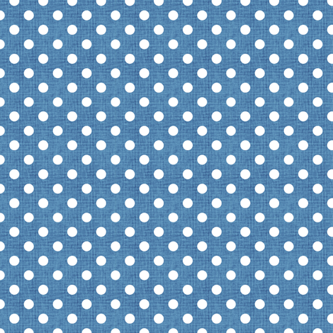 Vintage Cobalt Polka Dots fabric by kristopherk on Spoonflower - custom fabric