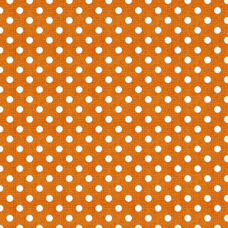 Vintage Pumpkin Polka Dots fabric by kristopherk on Spoonflower - custom fabric