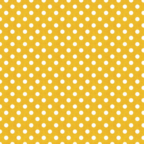 Vintage Lemon Polka Dots fabric by kristopherk on Spoonflower - custom fabric