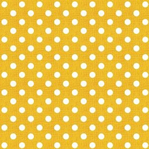 Vintage Lemon Polka Dots
