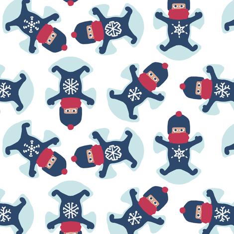 Snowflake Snow Angels fabric by mongiesama on Spoonflower - custom fabric