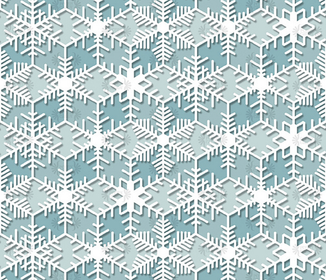 Snowflakes || geometric lace crochet doily crystal ice holiday christmas