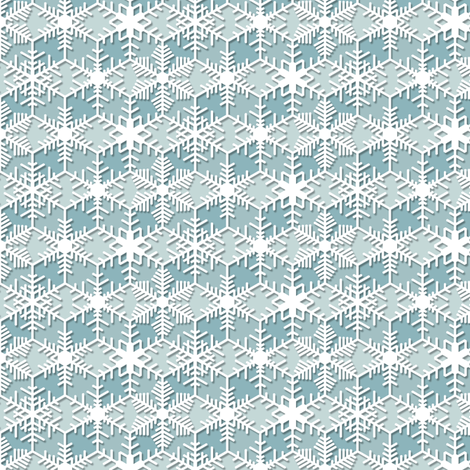 Snowflakes || geometric lace crochet doily crystal ice holiday christmas fabric by pennycandy on Spoonflower - custom fabric