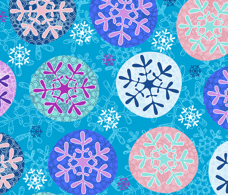 Floral winter fabric by juliagrifol on Spoonflower - custom fabric