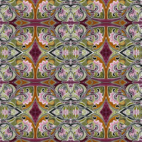 A is for Annabelle fabric by edsel2084 on Spoonflower - custom fabric