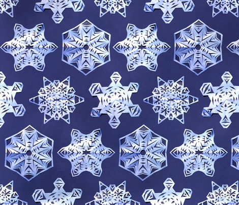 Snowflakes fabric by katherinech on Spoonflower - custom fabric