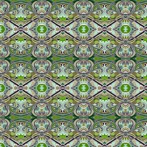 Seventies Avocado Green Rococo